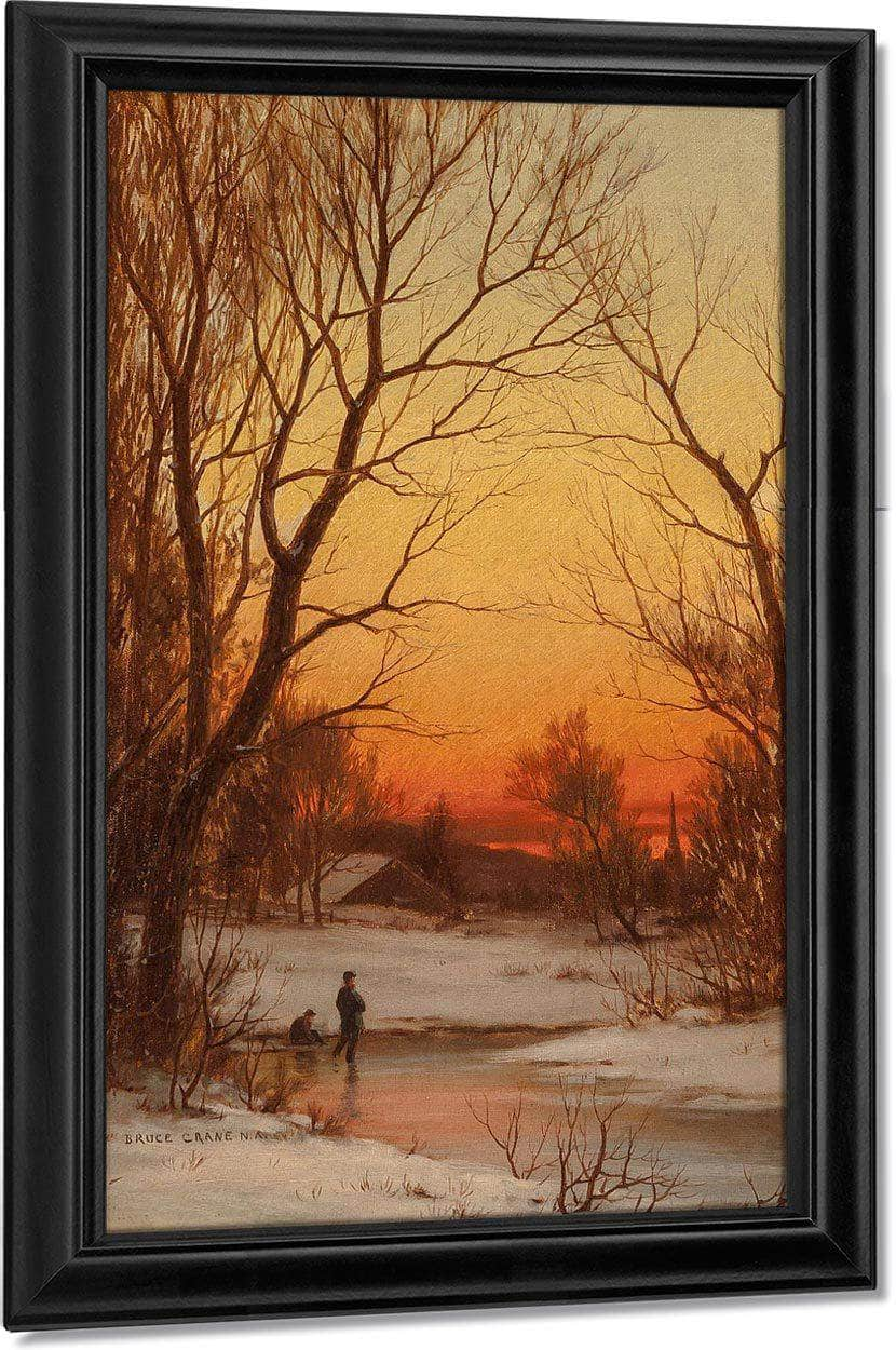 Sunset  Woods And Pond Circa 1885 By Bruce Crane
