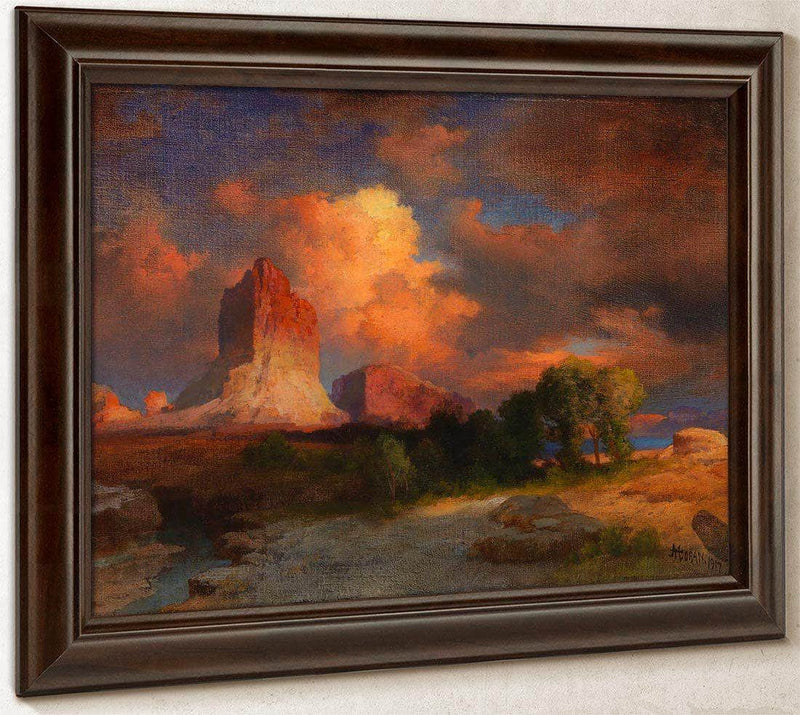 Sunset Cloud, Green River, Wyoming By Thomas Moran