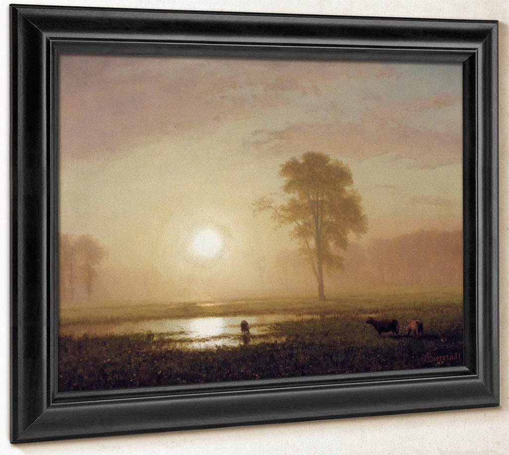 Sunset On The Plains By Albert Bierstadt