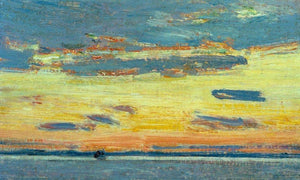 Sunset On The Sea By Childe Hassam