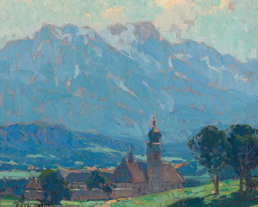 Swiss Village Scene By Edgar Payne