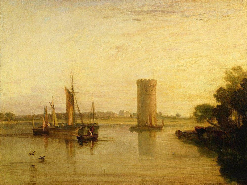Tabley The Seat Of Sir J.F. Leicester Bart. Calm Morning By Joseph Mallord William Turner