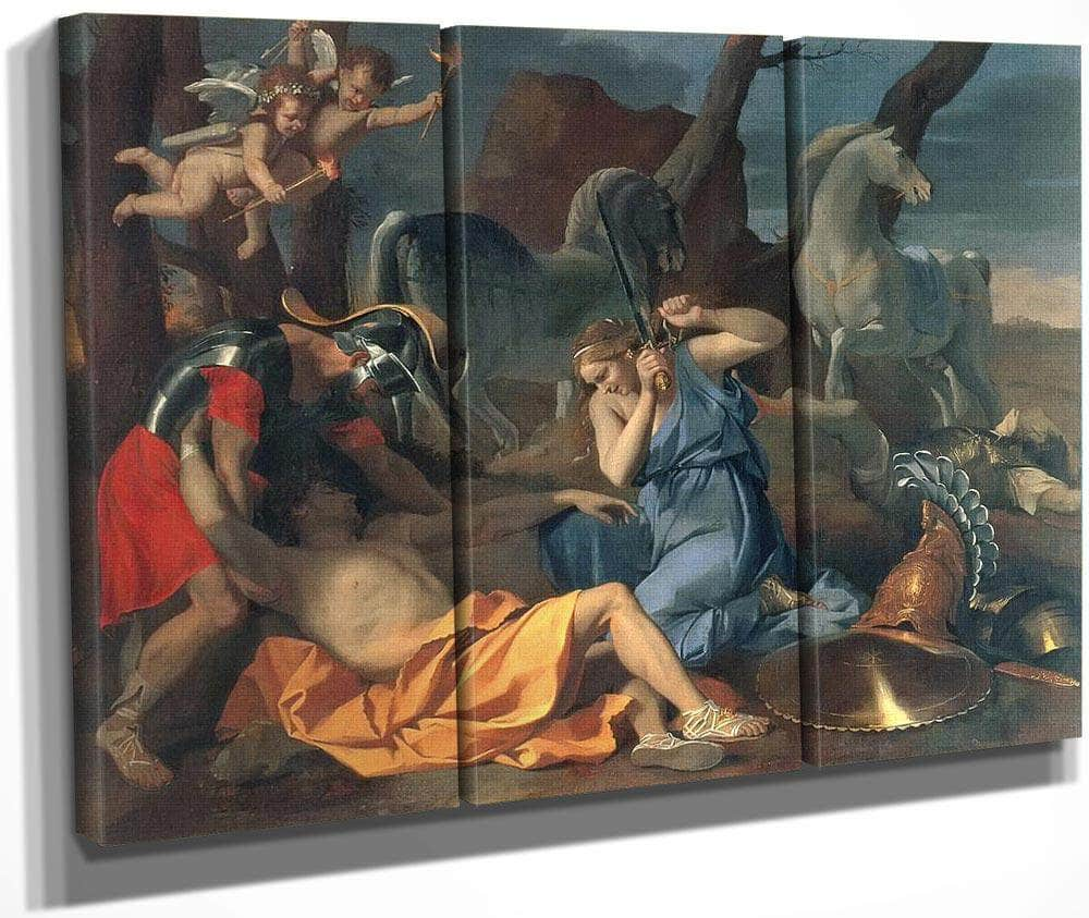 Tancred And Erminia By Nicholas Poussin