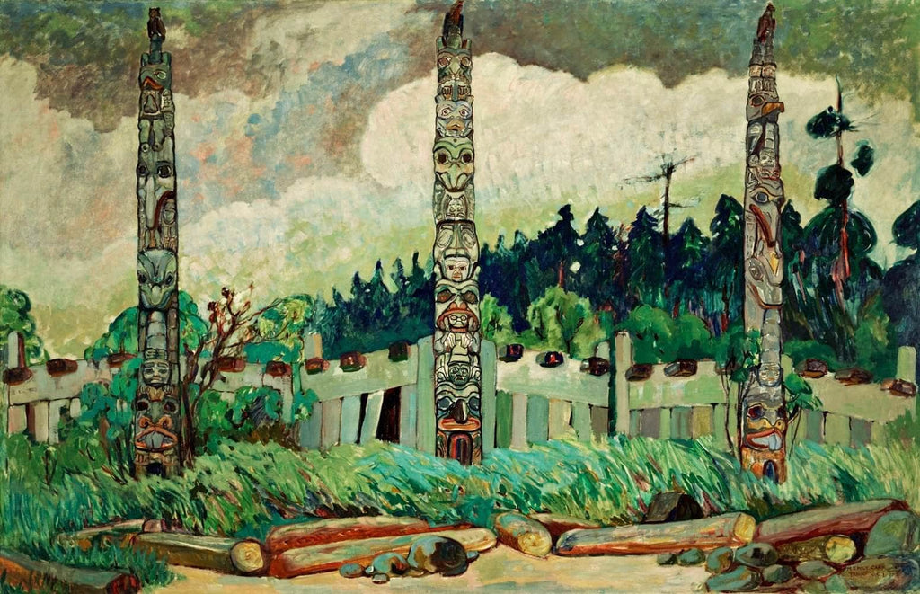 Tanoo, Queen Charlotte Island Painting Emily Carr Canvas Art