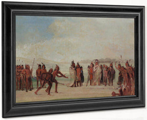 Tchung Kee, A Mandan Game Played With A Ring And Pole By George Catlin