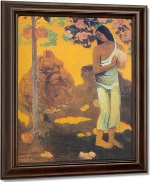 Te Avae No Maria ( The Month Of Mary) Or Woman Carrying Flowers By Paul Gauguin
