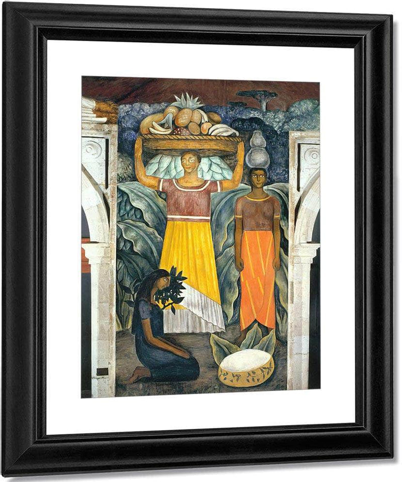 Tehuana Women By Diego Rivera