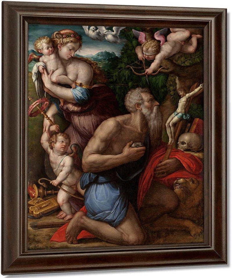 Temptations Of St Jerome By Giorgio Vasari