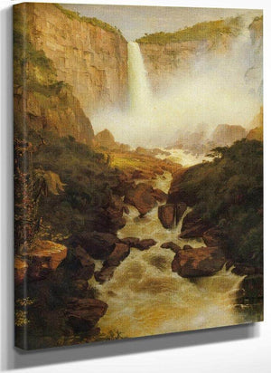Tequendama Falls Near Bogota By Fredric Edwin Church