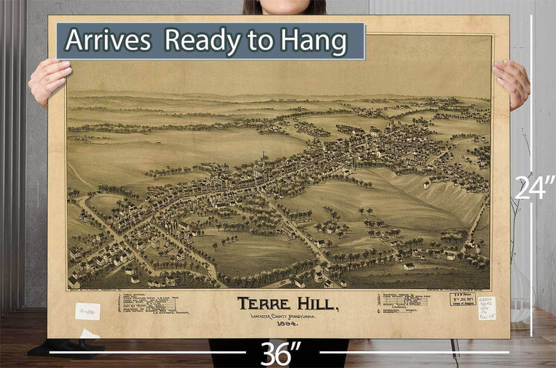 Terre Hill Lancaster County Pennsylvania 1894 Vintage Map