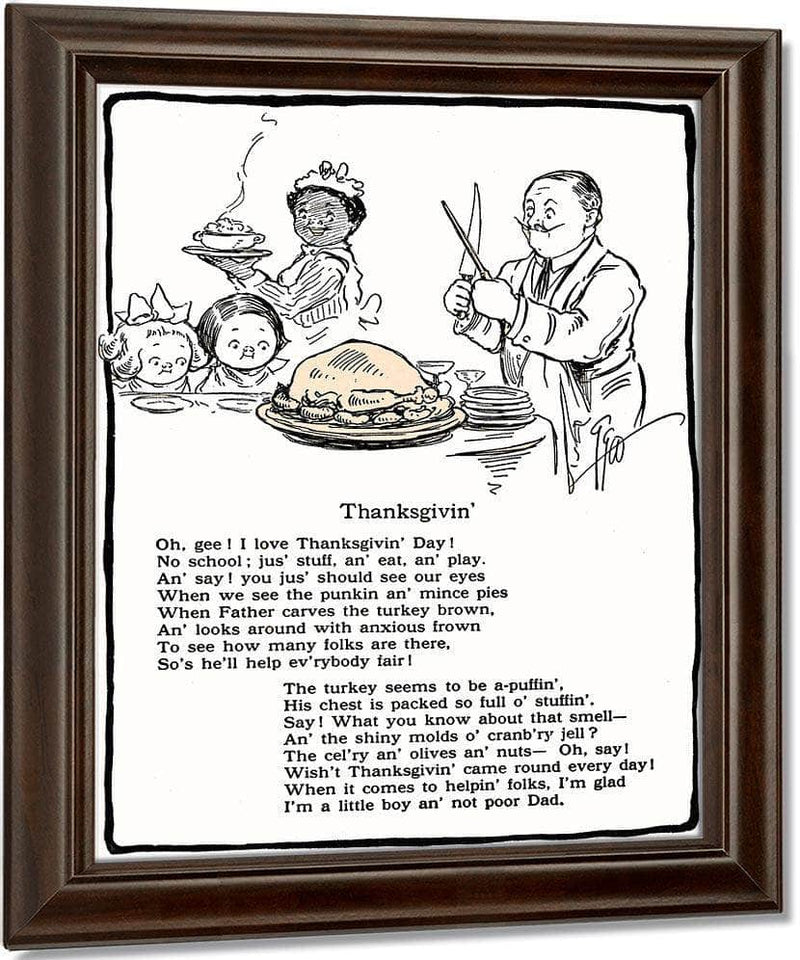 Thanksgivin Illustrated By Grace G Drayton
