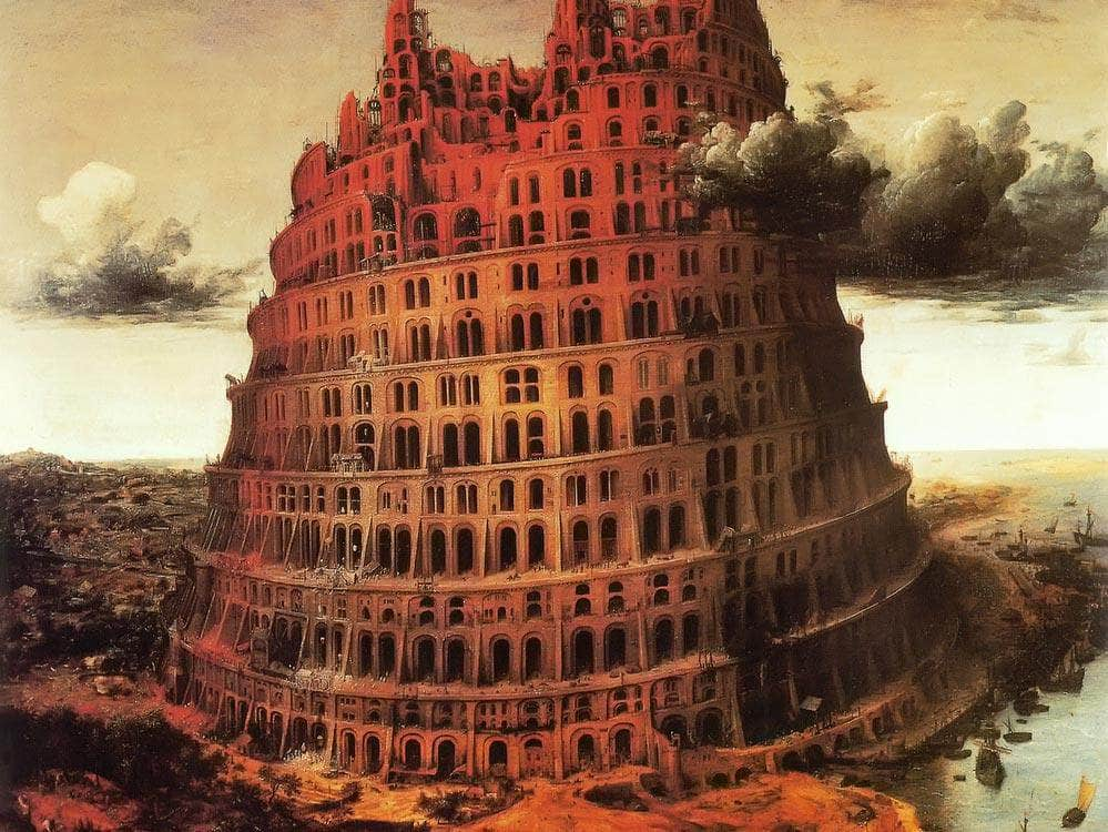 The  Little Tower Of Babel 2 By Pieter Bruegel