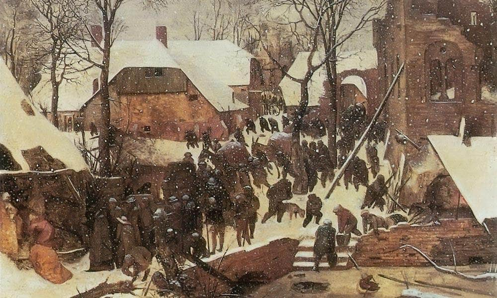 The Adoration Of The Kings In The Snow 1567 By Pieter Bruegel