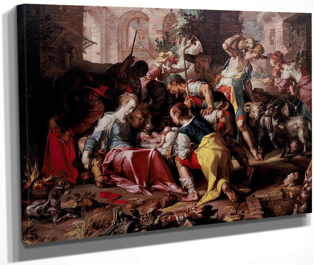 The Adoration Of The Shepherds By Joachim Wtewael
