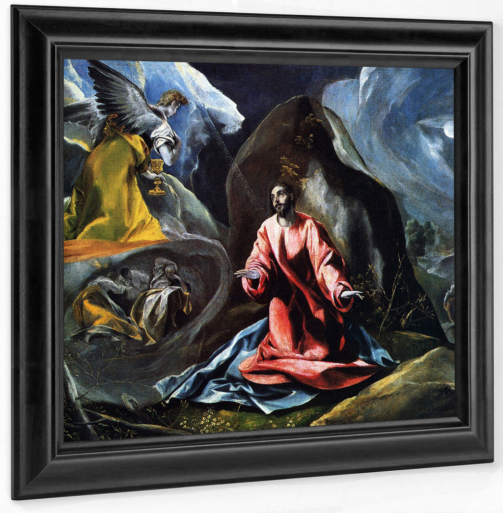 The Agony In The Garden 1595 1 By El Greco
