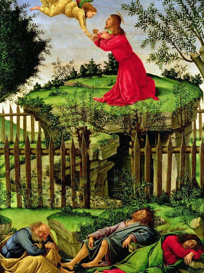 The Agony In The Garden By Sandro Botticelli