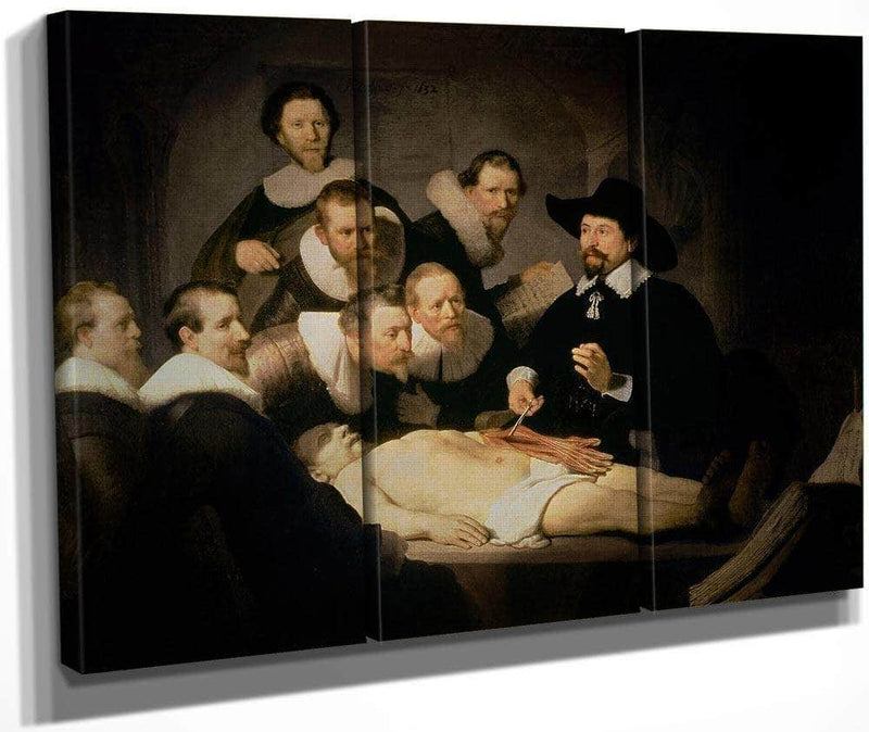 The Anatomy Lesson Of Dr. Nicolaes Tulp By Rembrandt