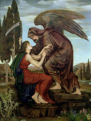 The Angel Of Death 1881 By Evelyn De Morgan