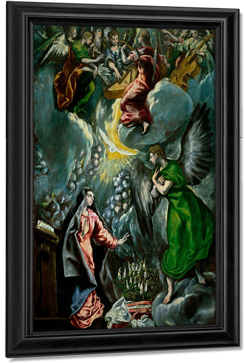 The Annunciation 1600 By El Greco