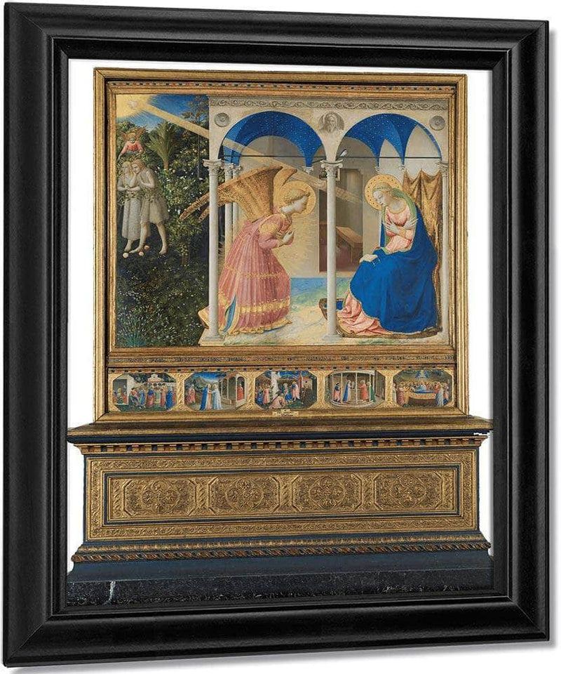 The Annunciation And Life Of The Virgin 1426 (1) By Fra Angelico