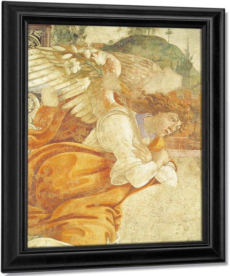The Annunciation Detail Of The Archangel Gabriel From San Martino Della Scala By Sandro Botticelli
