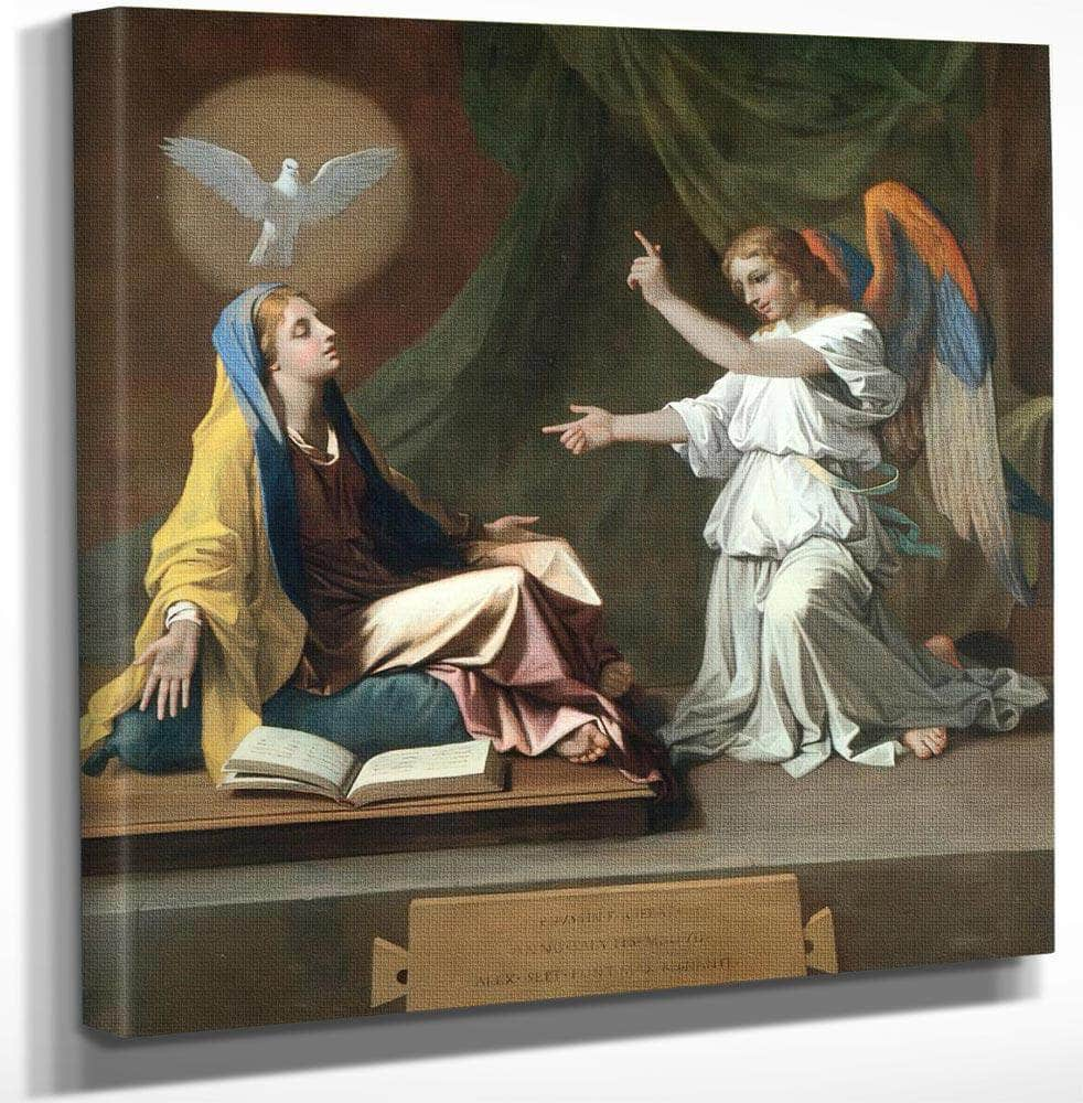 The Annunciation By Nicholas Poussin