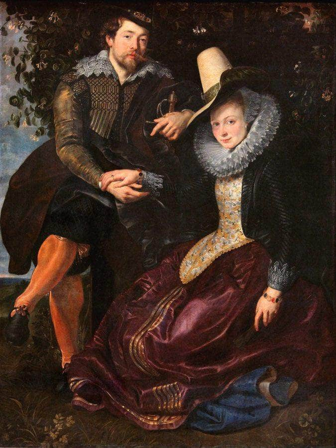 The Artist And His First Wife Isabella Brant In The Honeysuckle Bower By Peter Paul Rubens