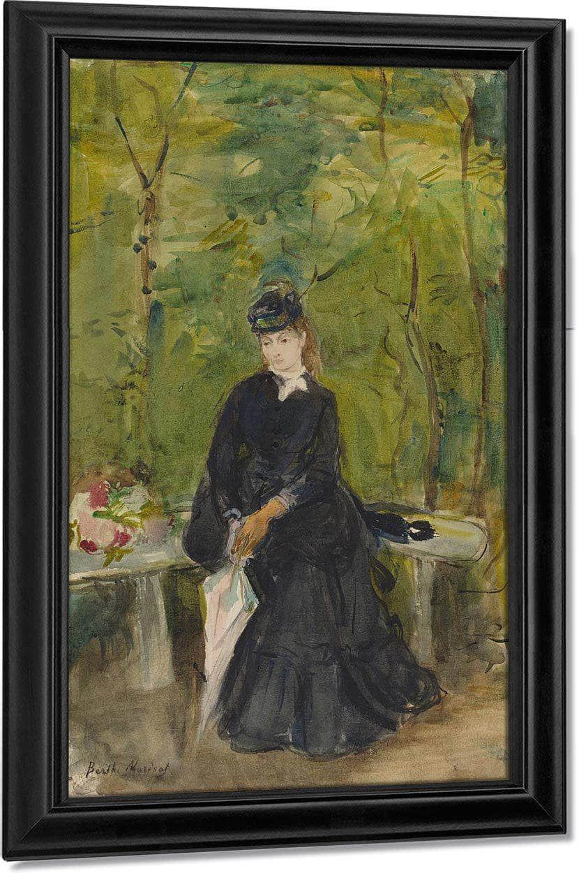 The Artist S Sister Edma Seated In A Park Berthe Morisot