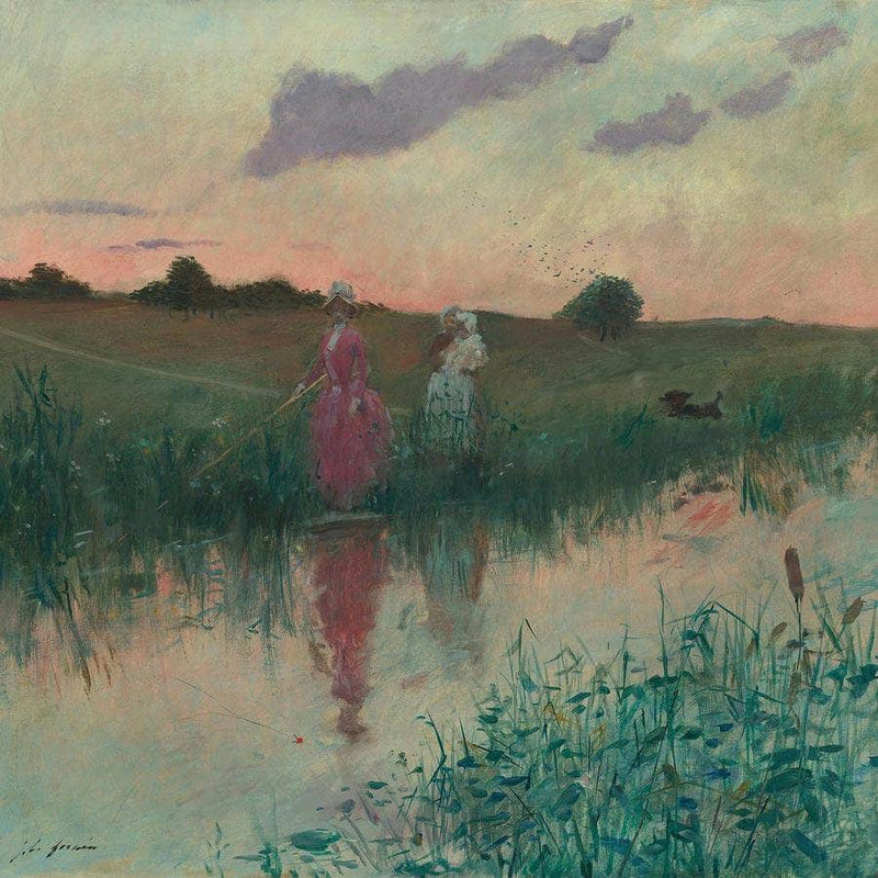 The Artist S Wife Fishing Jean Louis Forain