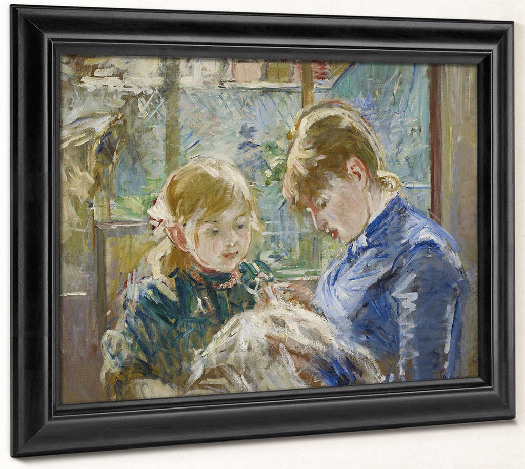 The Artist's Daughter, Julie, With Her Nanny By Berthe Morisot