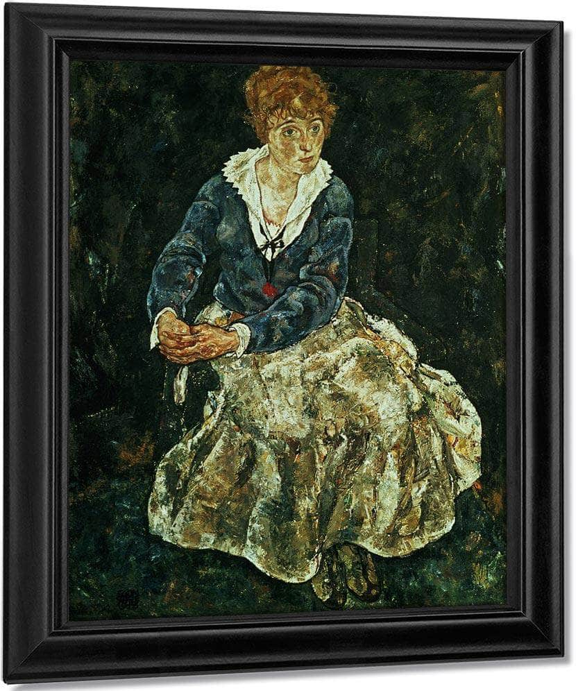 The Artist's Wife Seated By Egon Schiele