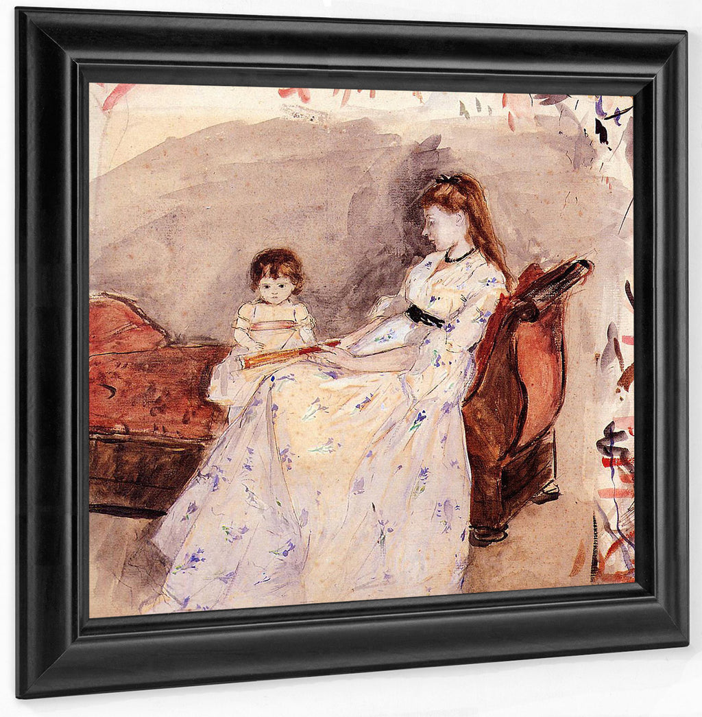 The Artists Sister Edma With Her Daughter Jeanne 1872 Watercolor National Gallery Of Art Washinton By Berthe Morisot