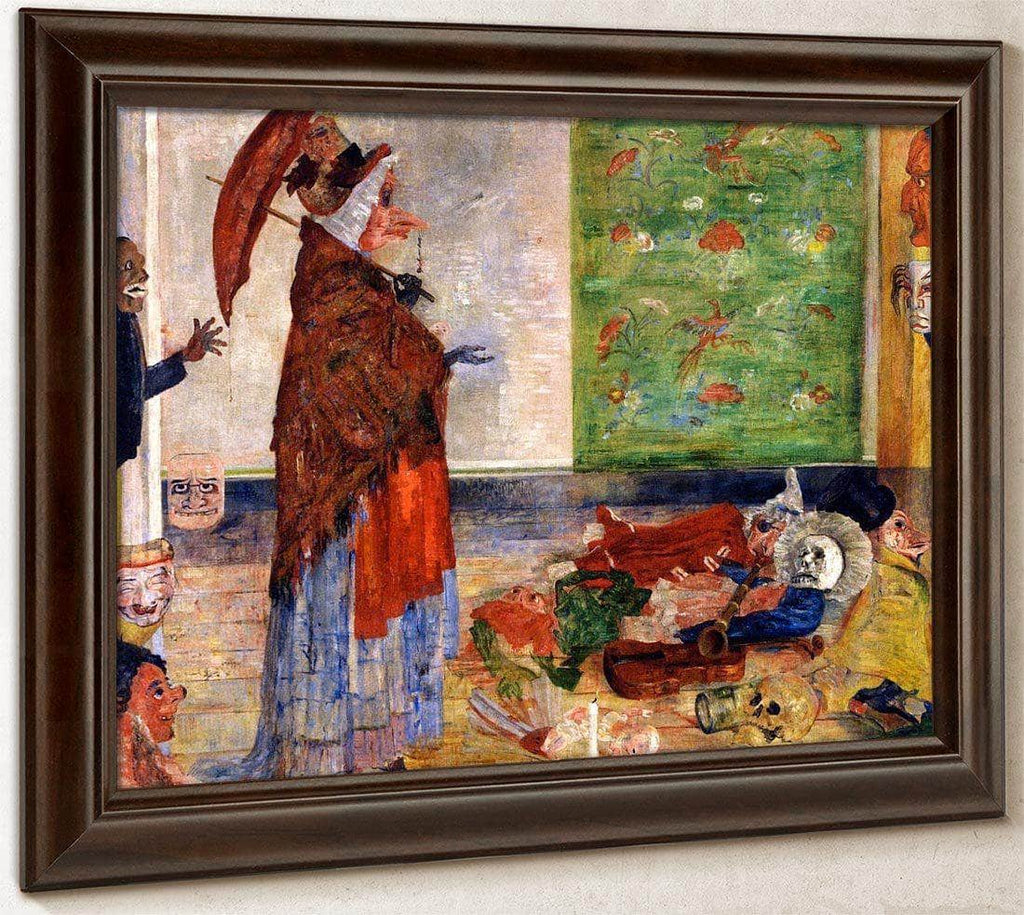 The Astonishment Of The Mask Wouse By James Ensor
