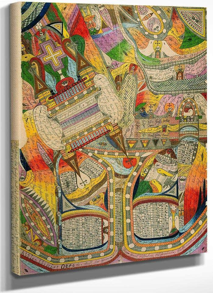 The Atlantic Ocean And The Harbor Of Cradle Beach 1911 By Adolf Wolfli