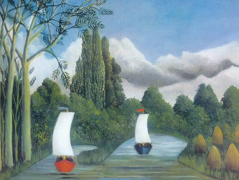 The Banks Of The Oise About 1908  By Henri Rousseau