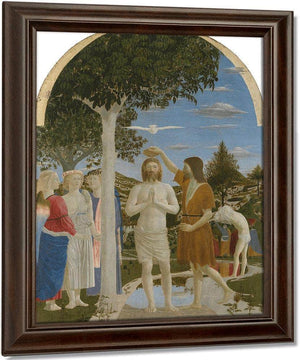 The Baptism Of Christ 1450 By Piero Della Francesca