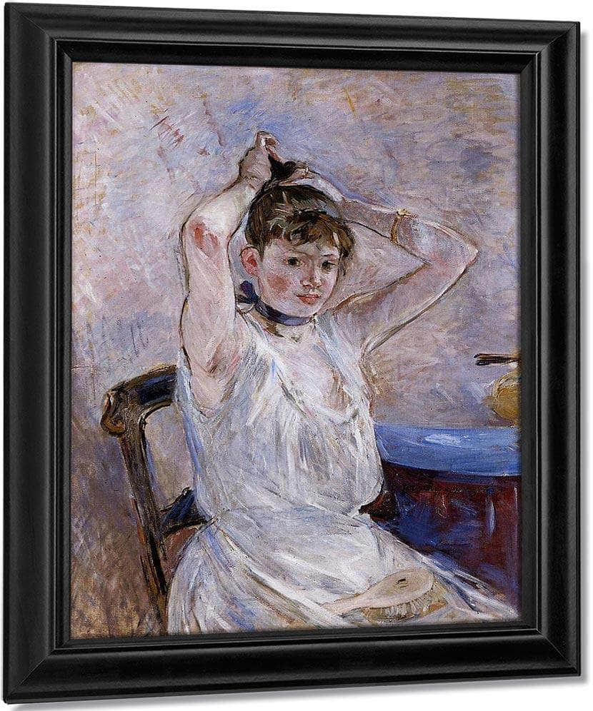 The Bath 1885 1886 Oil On Canvas 7230X9110Mm Sterling And Francine Clark Art Institute At Williamstown By Berthe Morisot