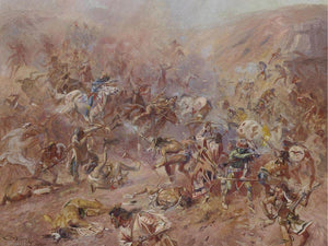 The Battle At Belly River By Charles Marion Russell