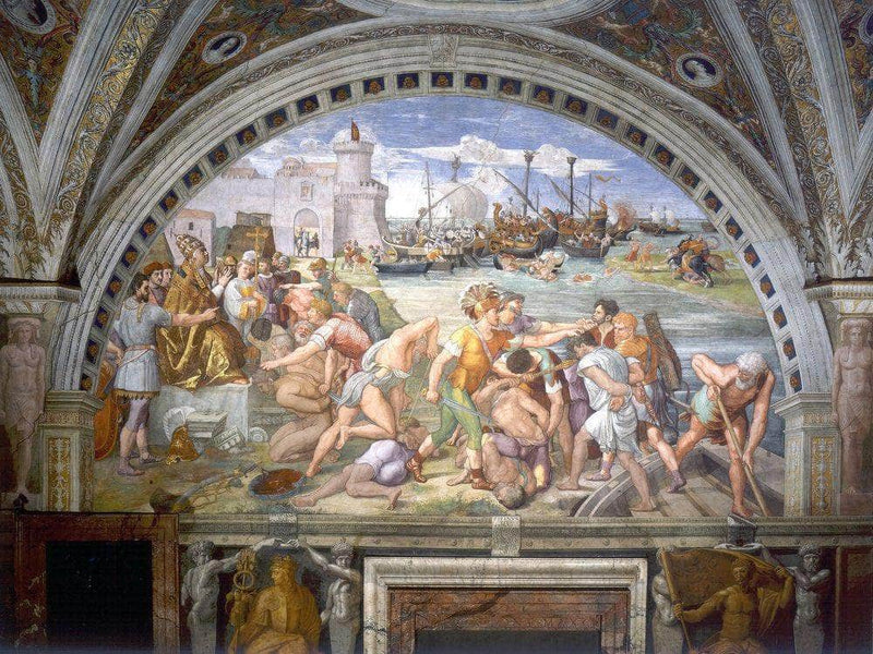The Battle Of Ostia By Raphael