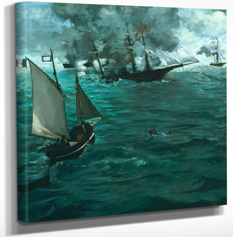 The Battle Of The Kearsarge And The Alabama By  Manet Edouard