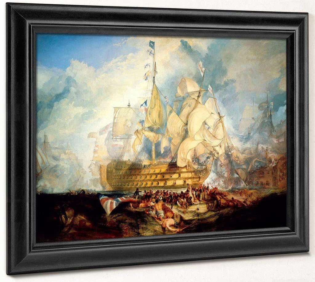 The Battle Of Trafalgar 1824 2 By Joseph Mallord William Turner
