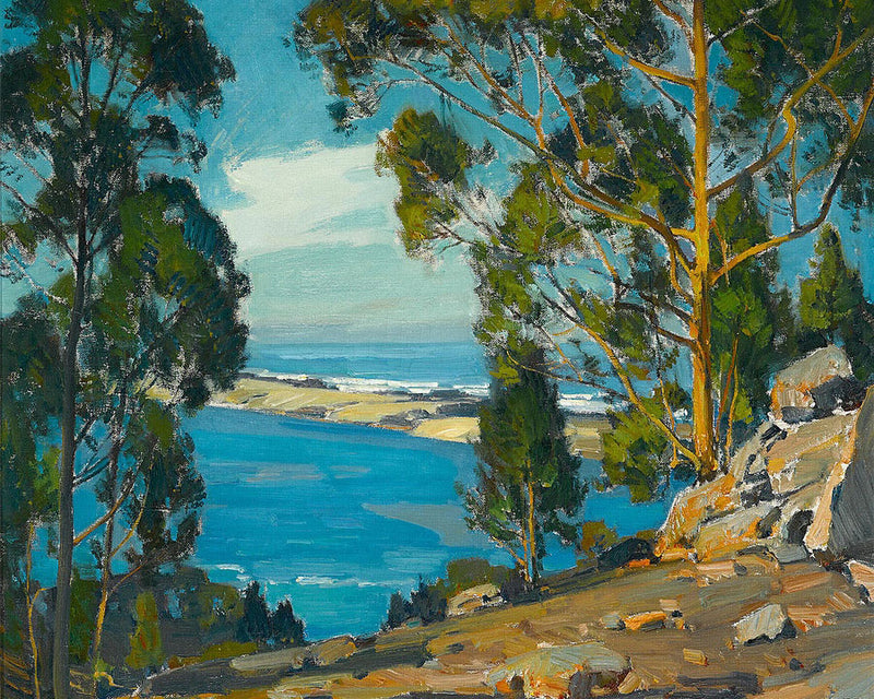 The Bay The Bar The Sea (At Morro) By William Wendt