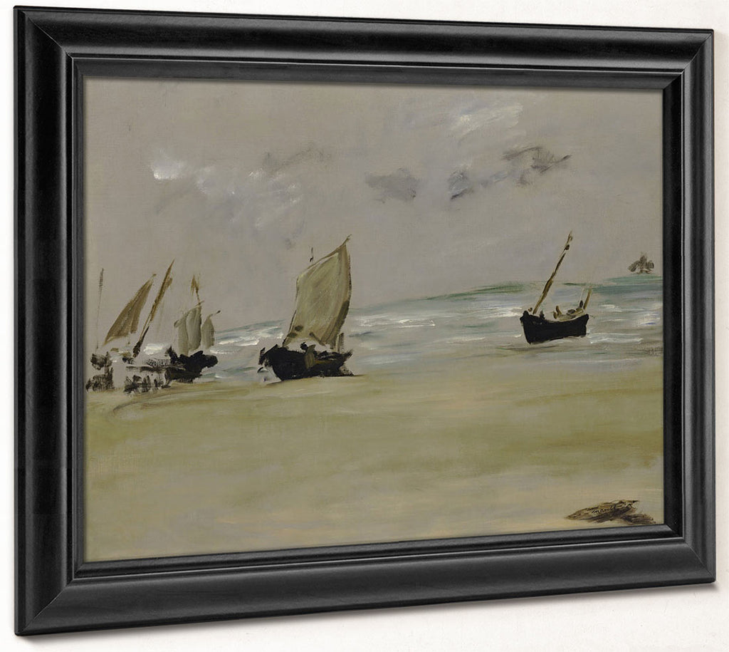 The Beach At Berck By Edouard Manet
