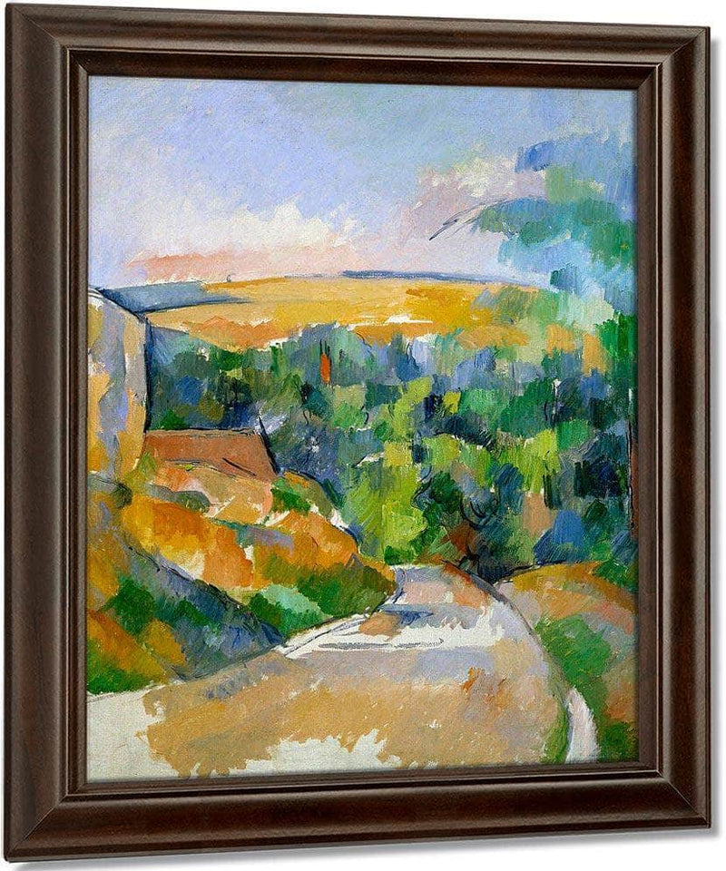 The Bend In The Road By Cezanne Paul