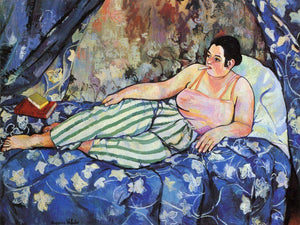 The Blue Room 1923 By Suzanne Valadon