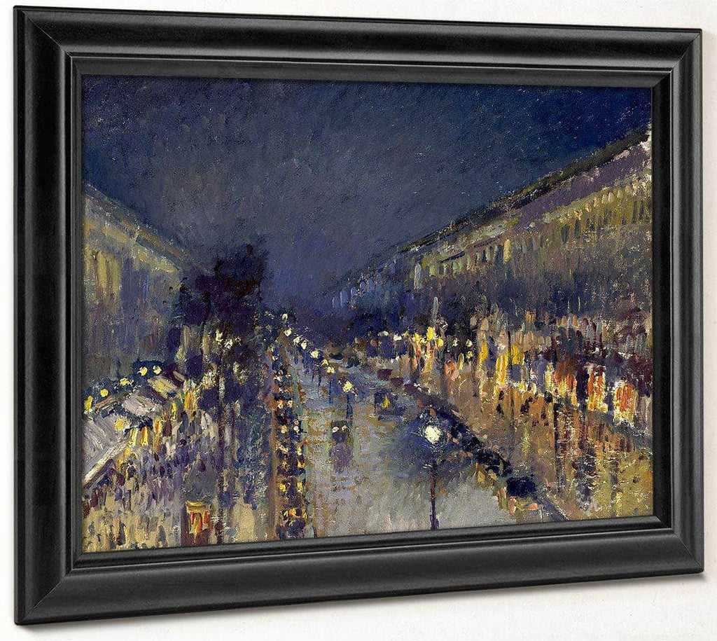 The Boulevard Montmartre At Night  1897 By Camille Pissarro