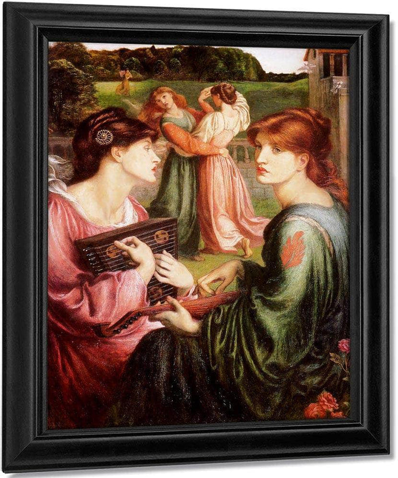 The Bower Meadow 1872 85X67Cm Manchester Art Gallery By Dante Gabriel Rossetti