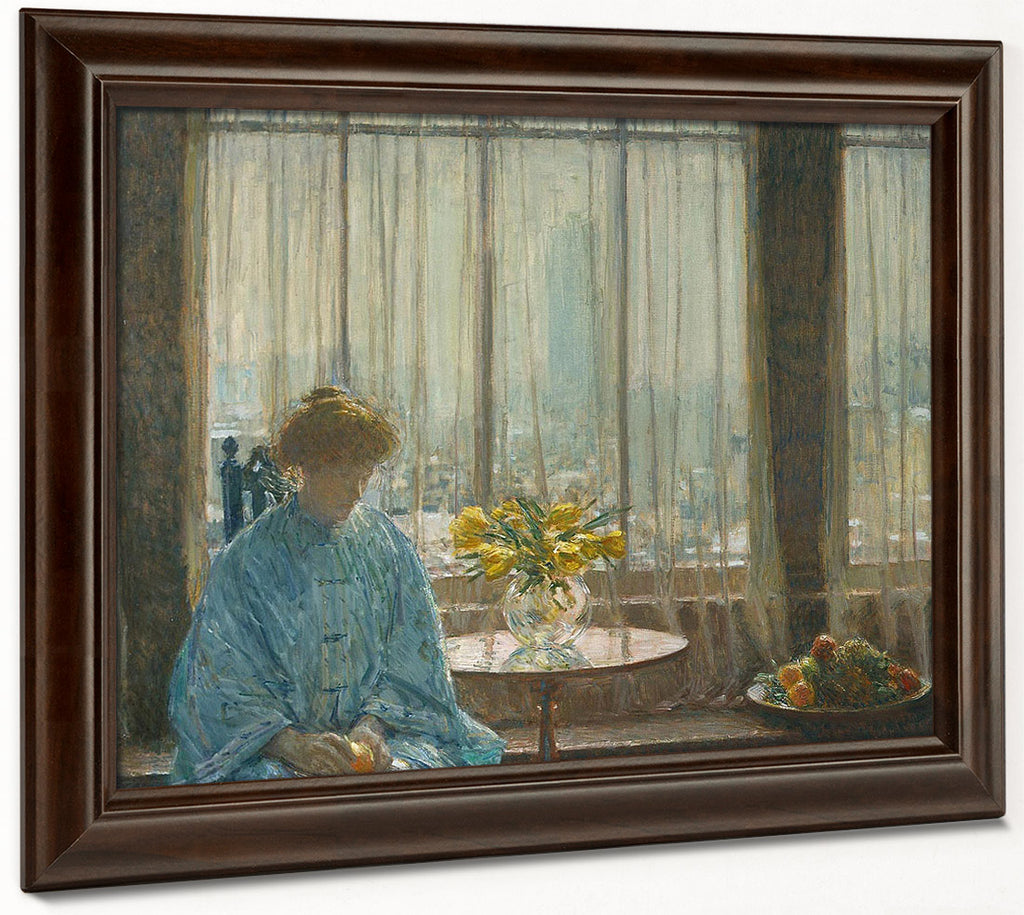 The Breakfast Room Winter Morning By Childe Hassam