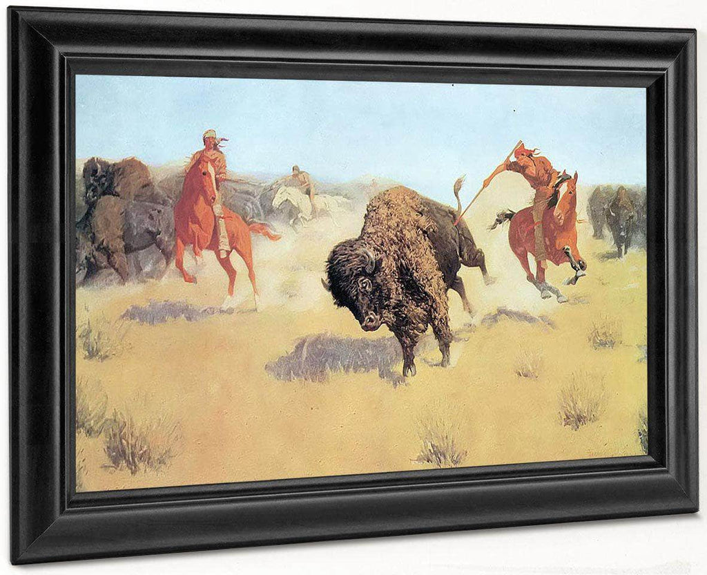 The Buffalo Runners By Frederic Remington