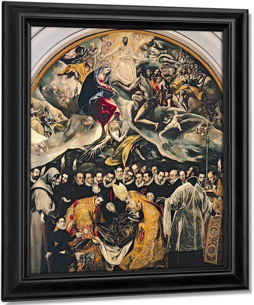 The Burial Of Count Orgaz From A Legend Of 1323 By El Greco
